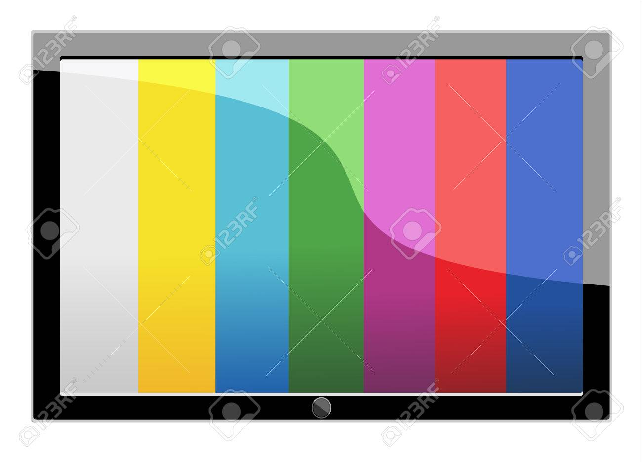 realistic computer tablet on colorful Stock Vector - 25156117