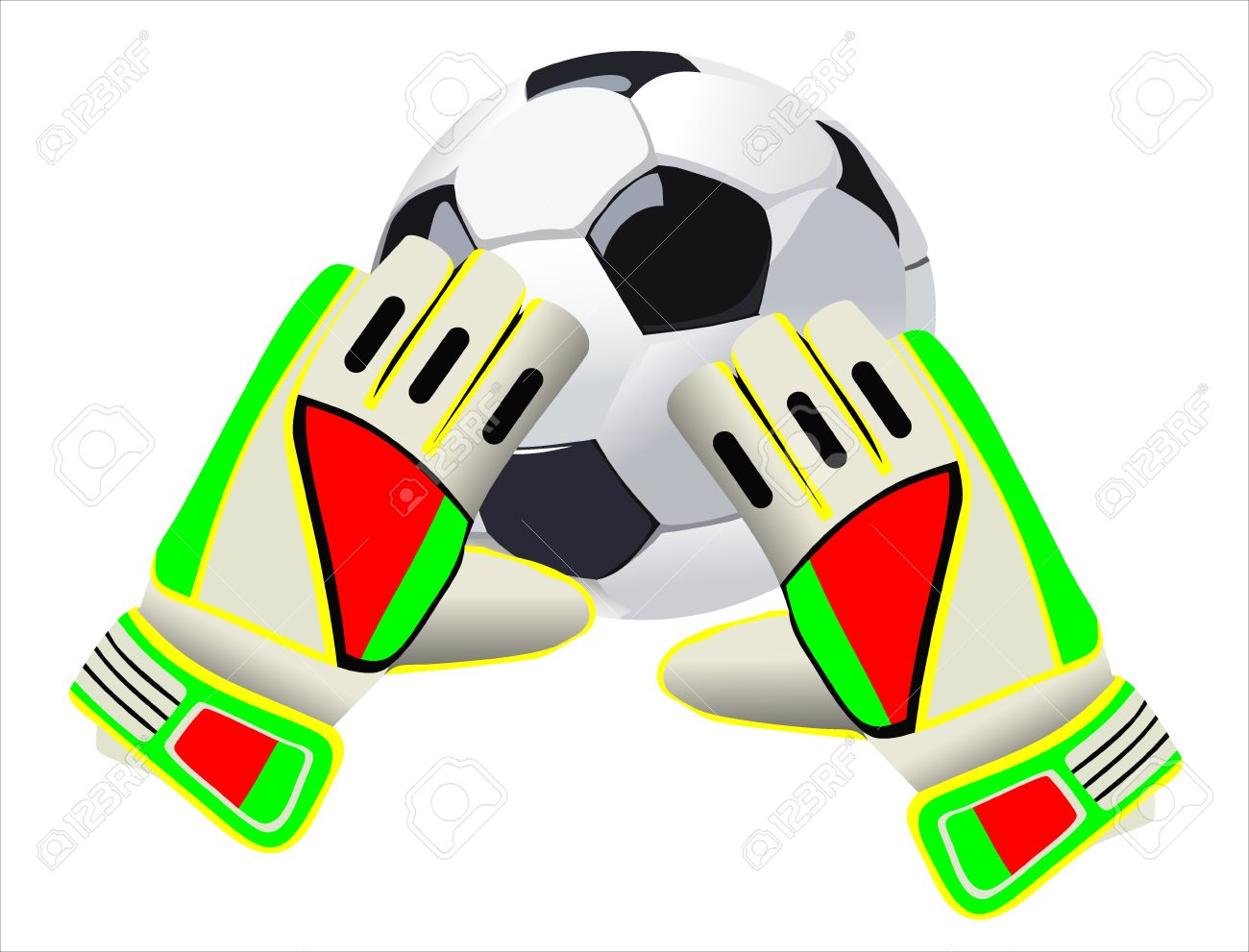 Soccer Goalkeeper Gloves And A Ball Royalty Free Cliparts Vectors And Stock Illustration Image 25156126