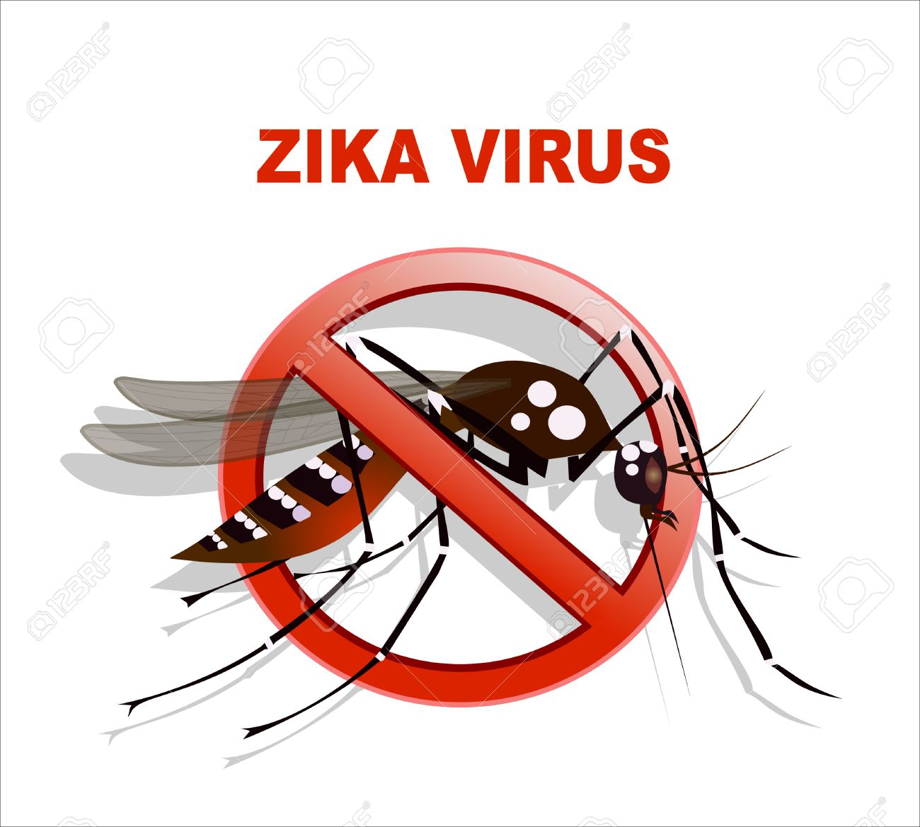 Caution of mosquito icon, spread of zika and dengue virus. Vector Design - 52780011