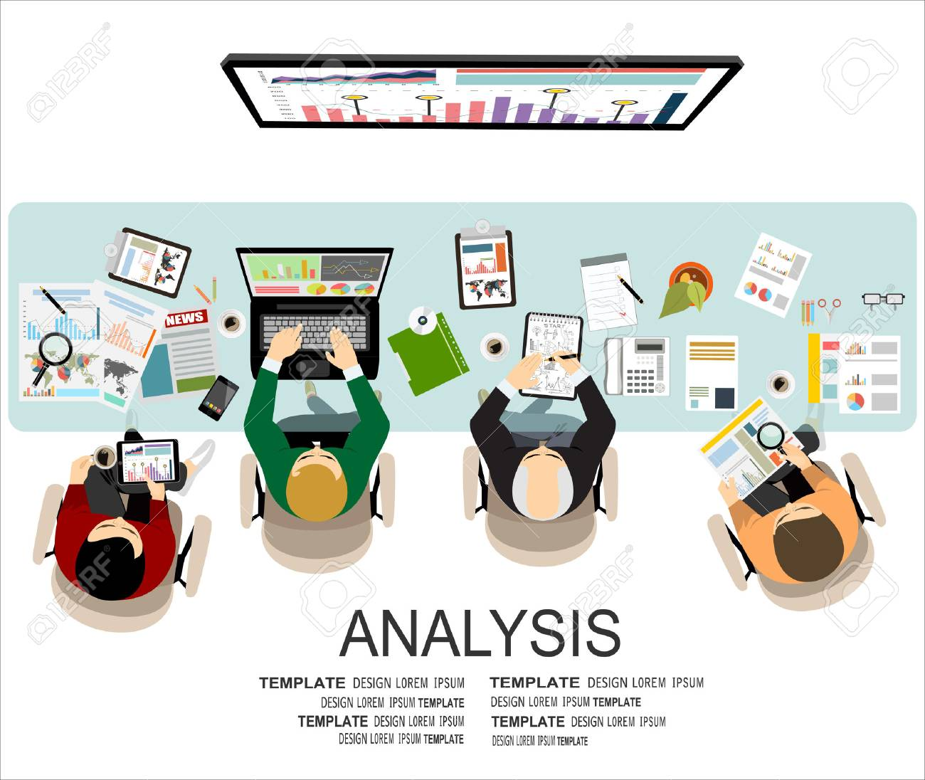Flat design illustration concepts for business analysis and planning, financial strategy, consulting, project management and development. Concept to building successful business - 54628789