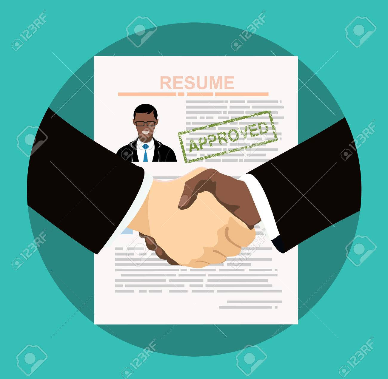 business handshake human resources management concept searching