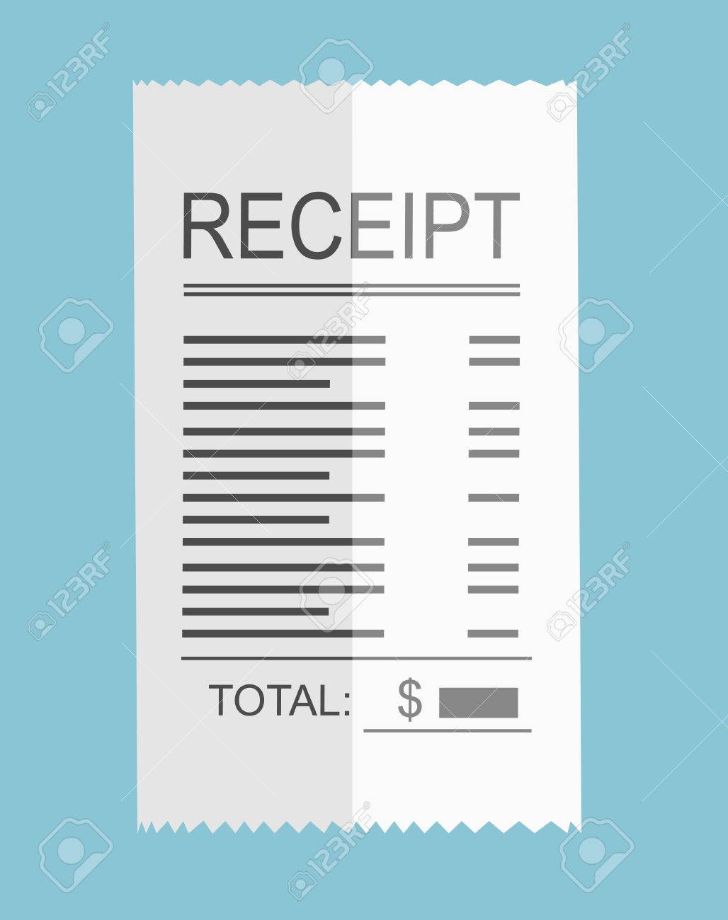 receipt icon flat design royalty free cliparts vectors and stock