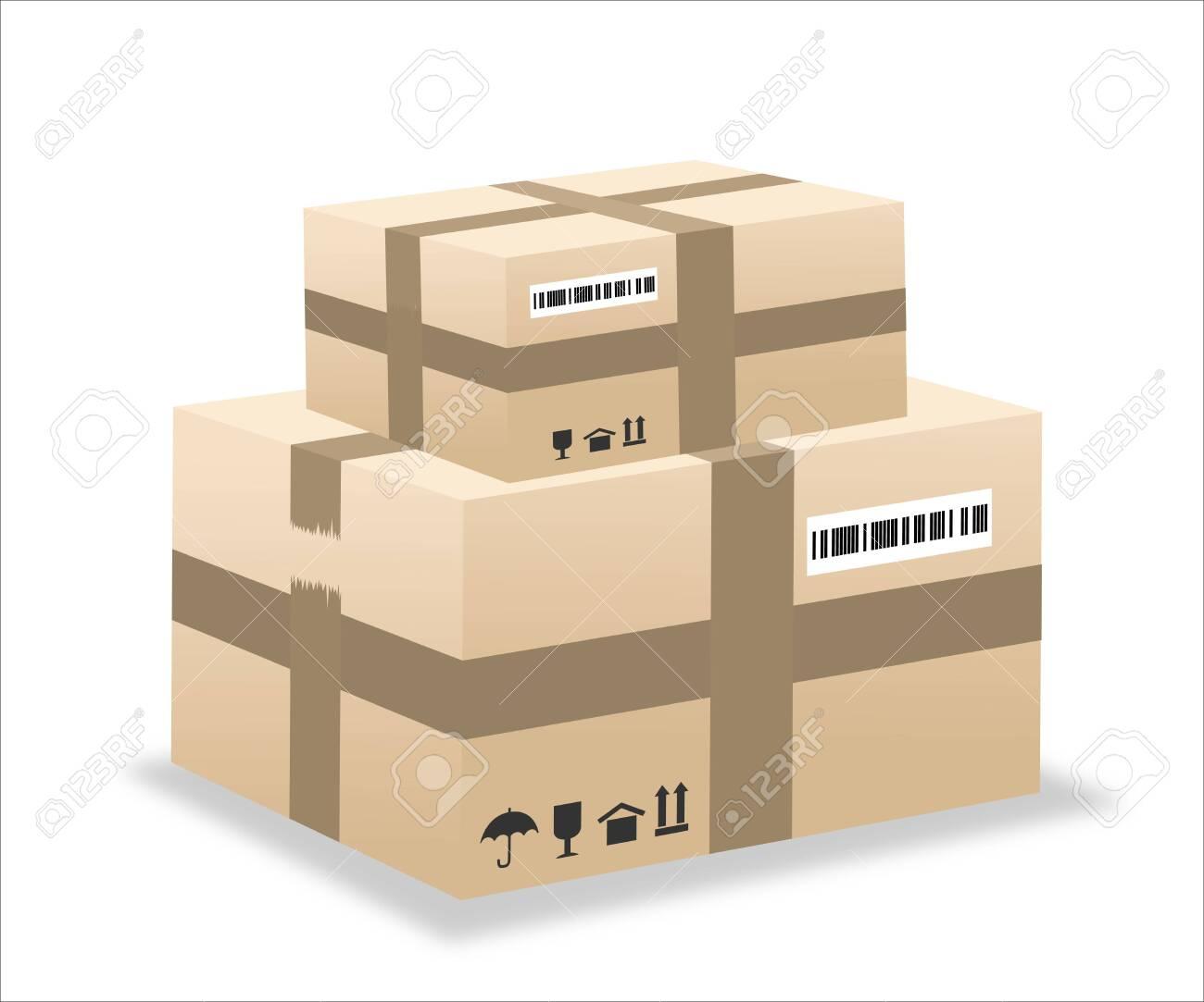 delivery box illustration - 135614294