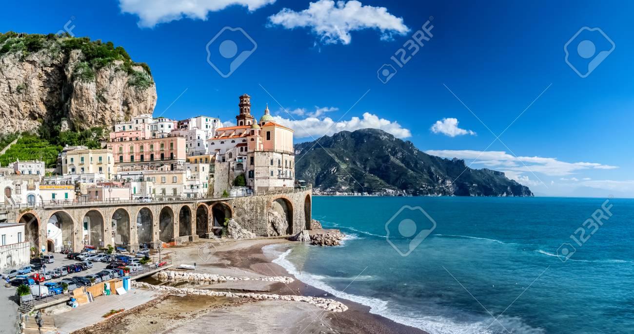 The Amalfi coast in Italy - 91456573