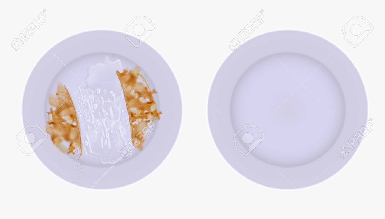 Clean and dirty set of plates - 96683379