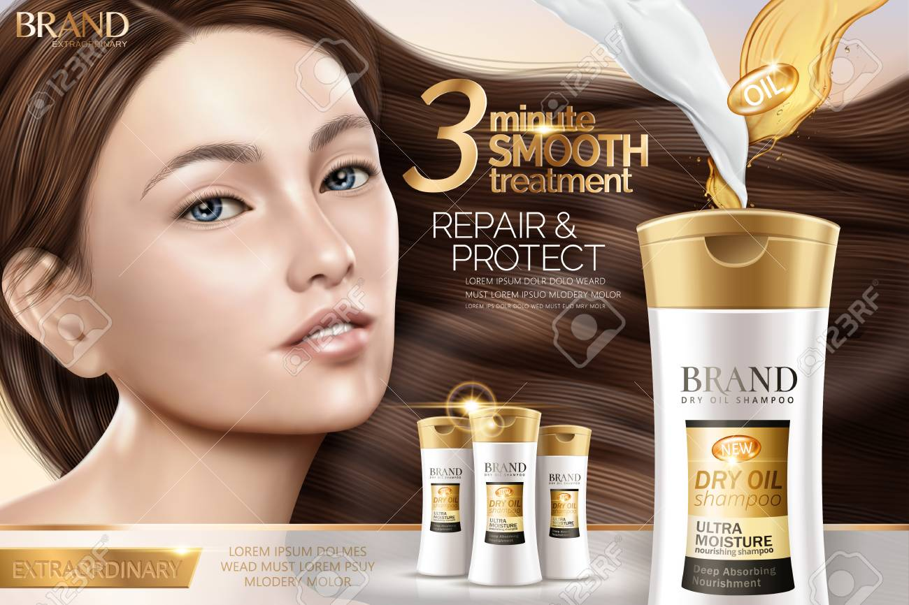 Attractive Shampoo Ad Hair Repair Shampoo Products With Charming
