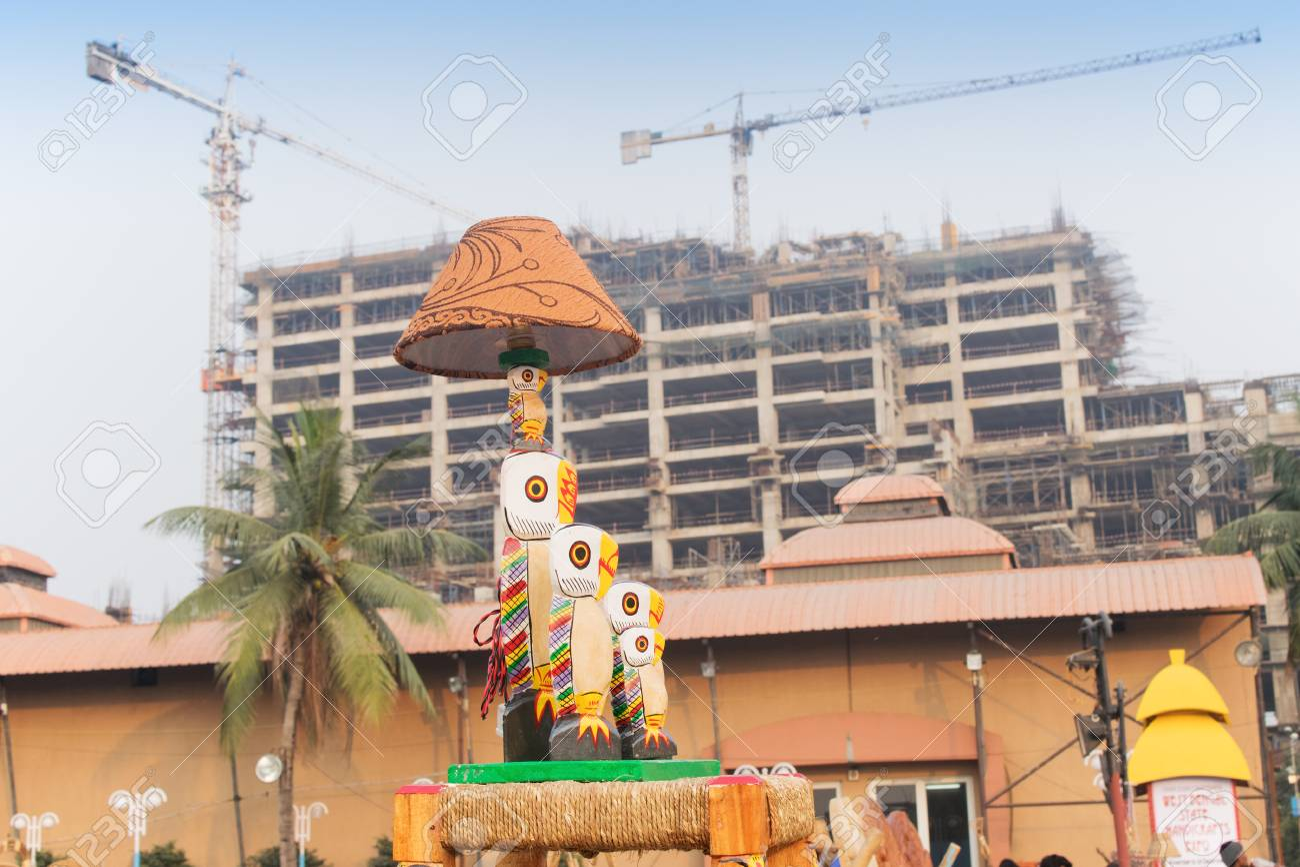 Kolkata west bengal india november 23rd 2014 table lamp cane furniture