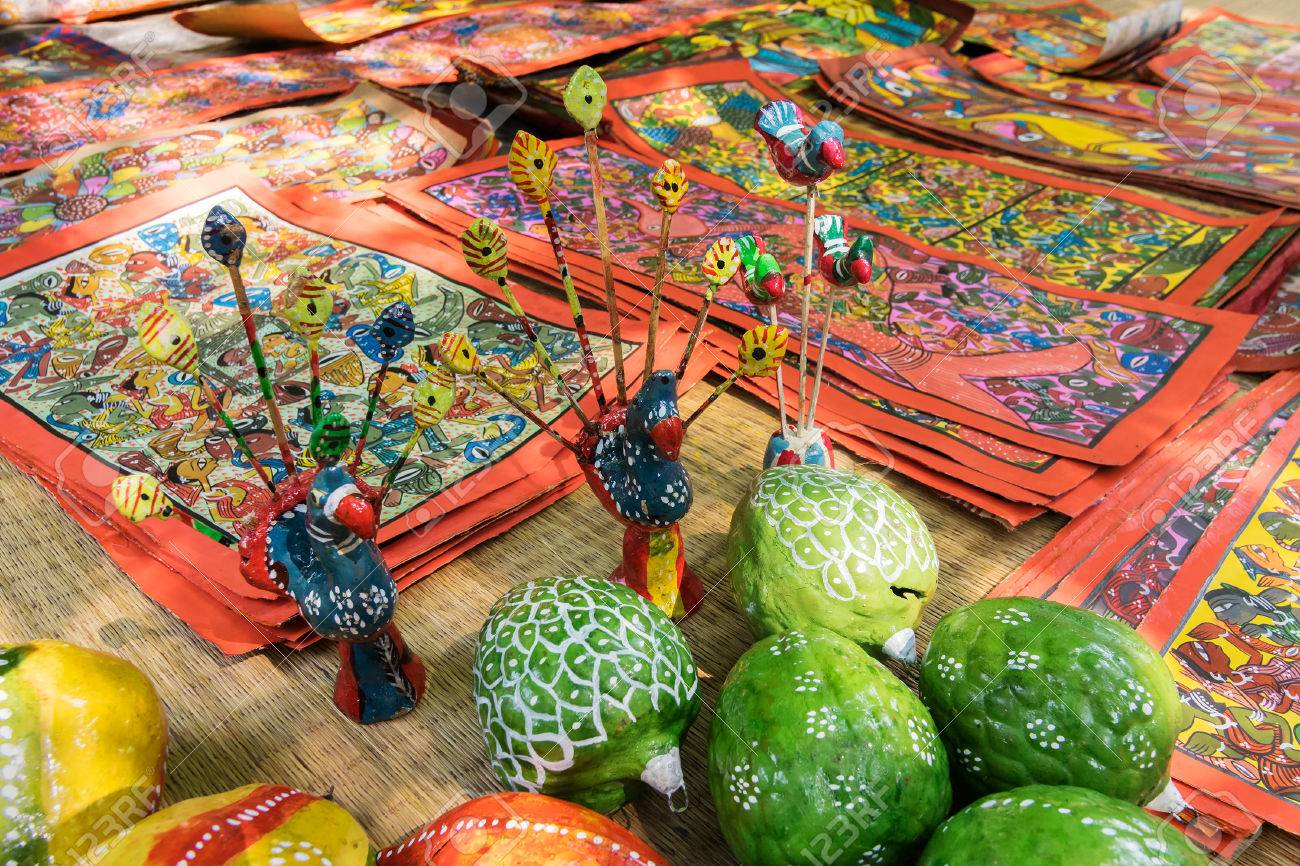 Colourful Clay Made Fruits And Vegetables Handicrafts Are Being