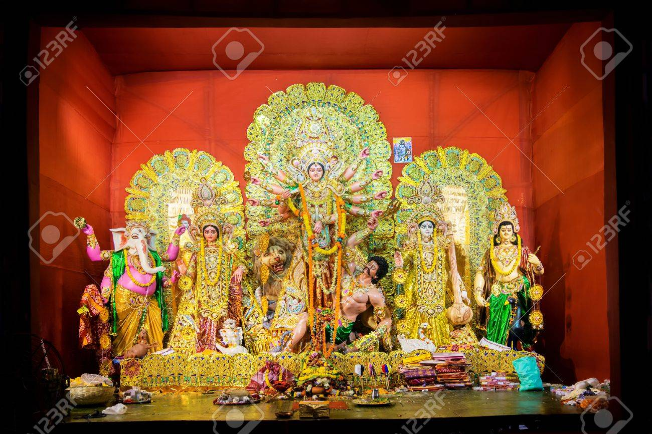 Kolkata india october 21 2015 beautifully interior of stock kolkata india october 21 2015 beautifully interior of decorated durga puja pandal altavistaventures Choice Image