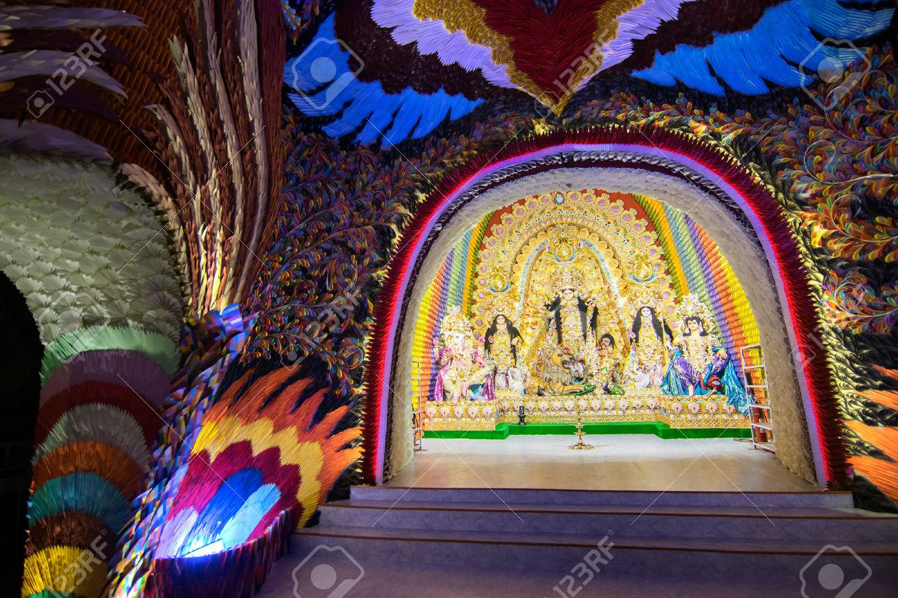 Kolkata india october 18 2015 night image of decorated kolkata india october 18 2015 night image of decorated durga puja pandal altavistaventures Choice Image