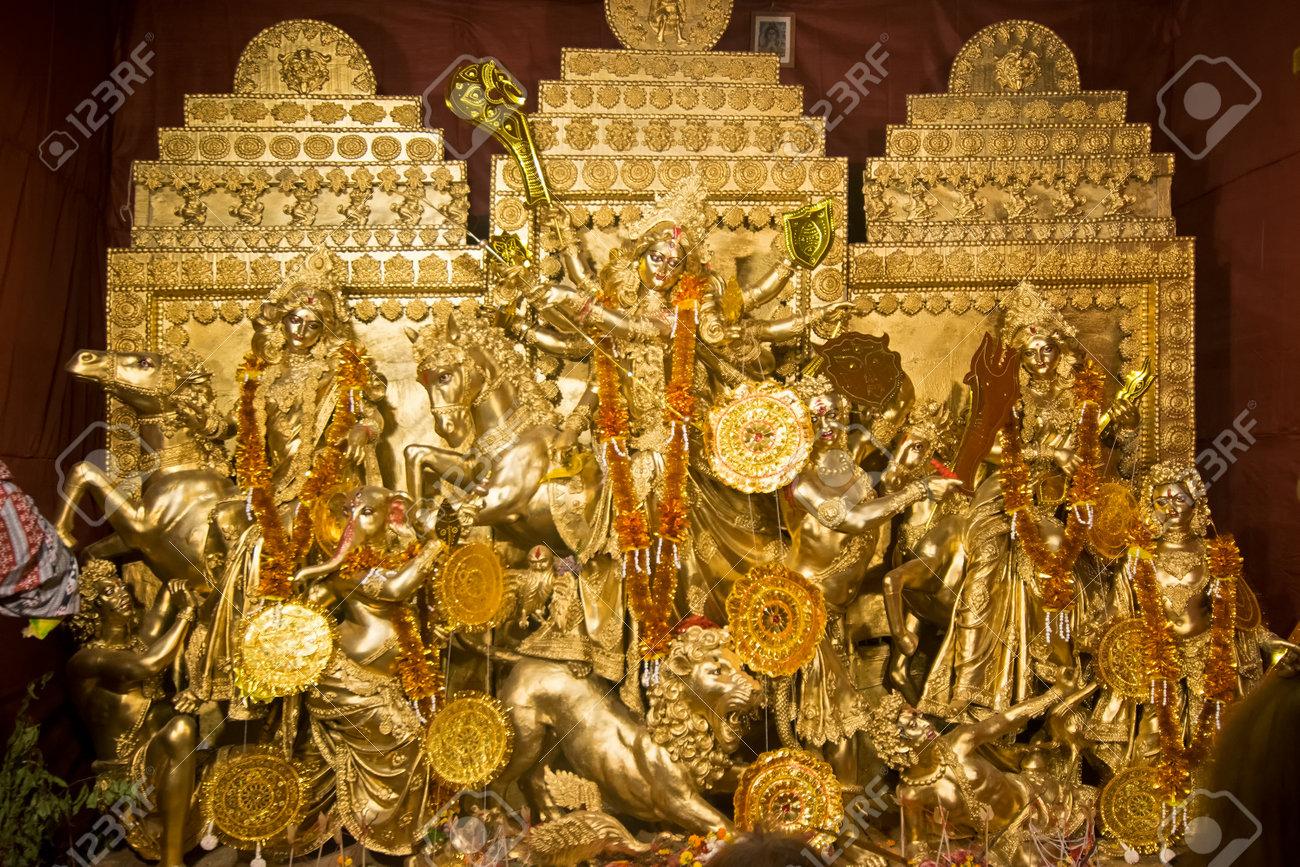 Kolkata india october 18 2015 night image of decorated kolkata india october 18 2015 night image of decorated durga puja pandal altavistaventures Image collections