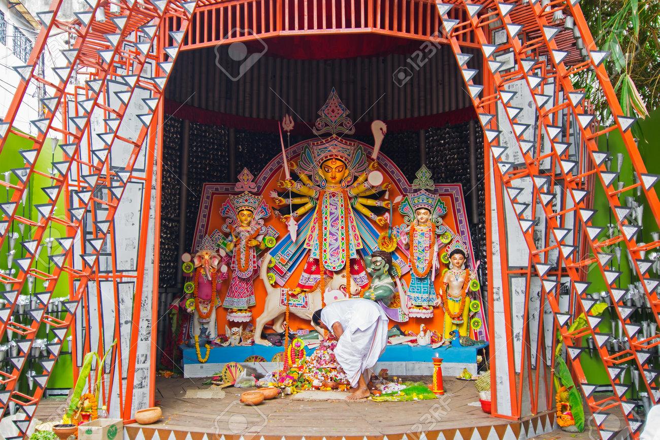 Kolkata india october 21 2015 beautifully interior of stock kolkata india october 21 2015 beautifully interior of decorated durga puja pandal altavistaventures Gallery