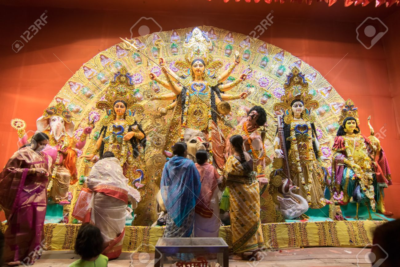 Kolkata india october 18 2015 married bengali women kolkata india october 18 2015 married bengali women worshipping durga idol at altavistaventures Gallery