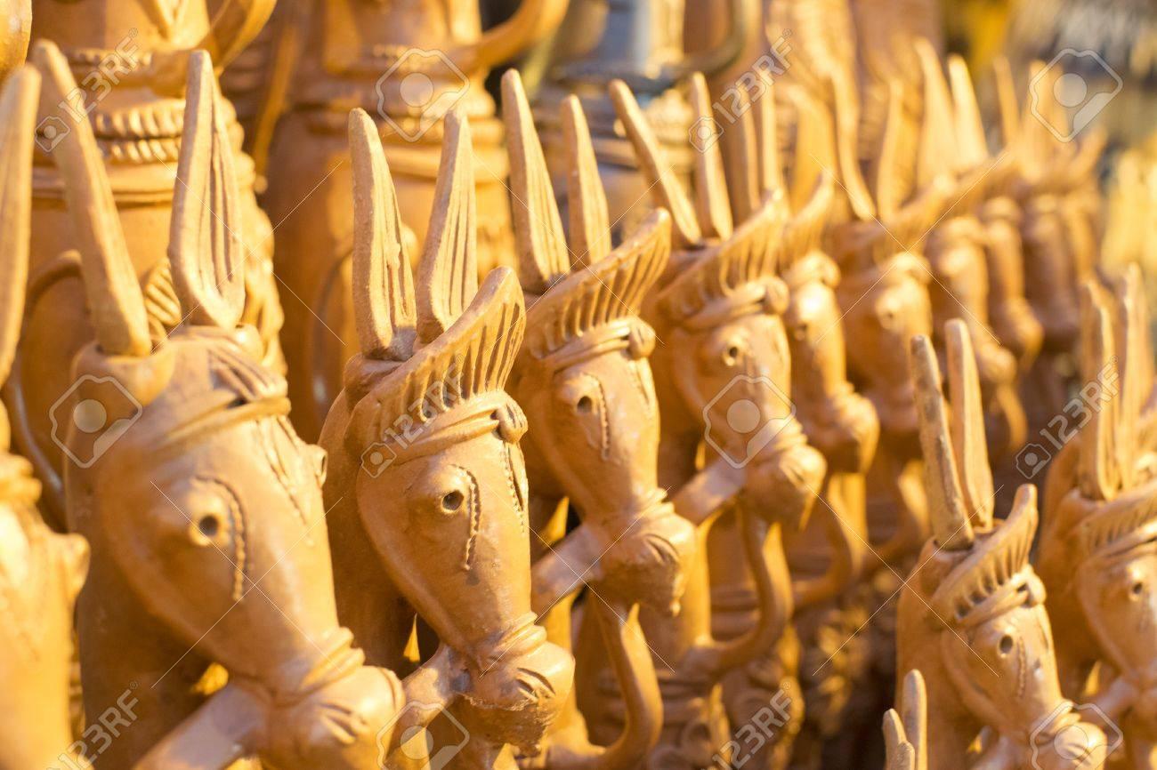 Wooden Horses Handicrafts Of Bankura And Bishnupur On Display