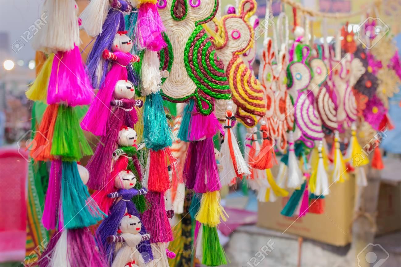 Handmade Jute Dolls Colourful Handicrafts On During Handicraft