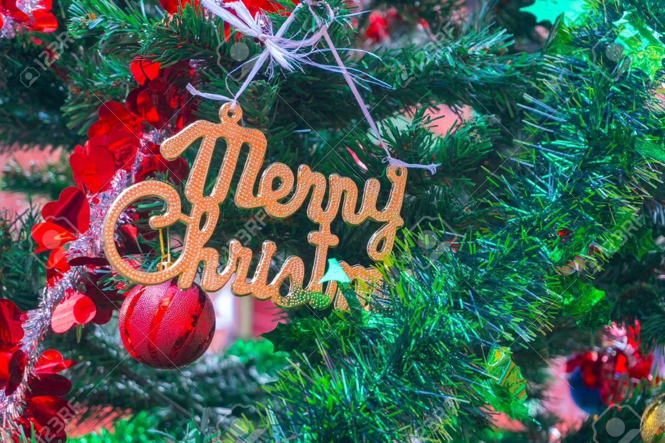Christmas Tree In India.Merry Christmas Season S Greeting On Christmas Tree Image
