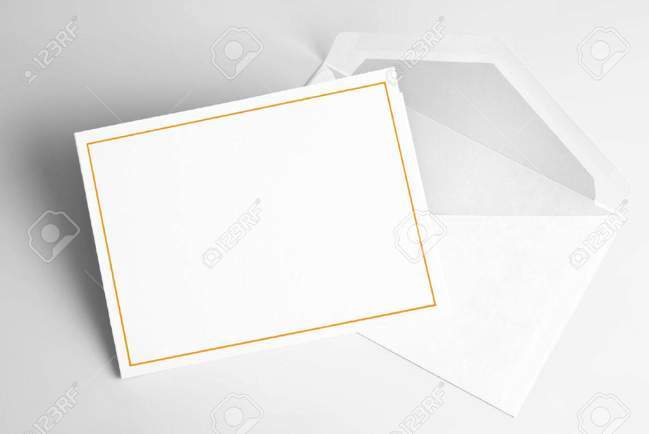 Blank Invitation Card And Envelope Stock Photo   30259458
