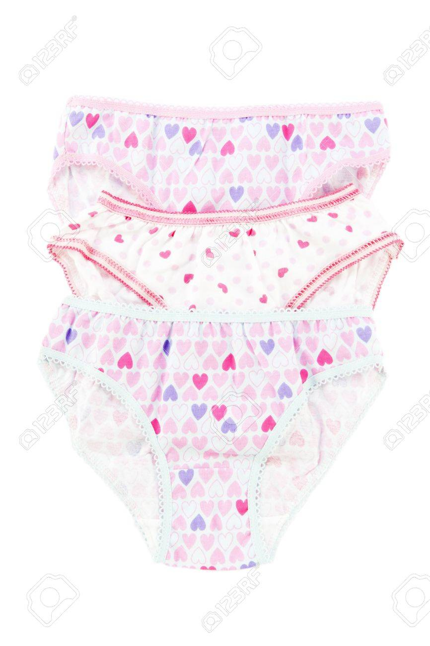 Underwear clothes set for baby girl isolated on white Stock Photo - 11936212