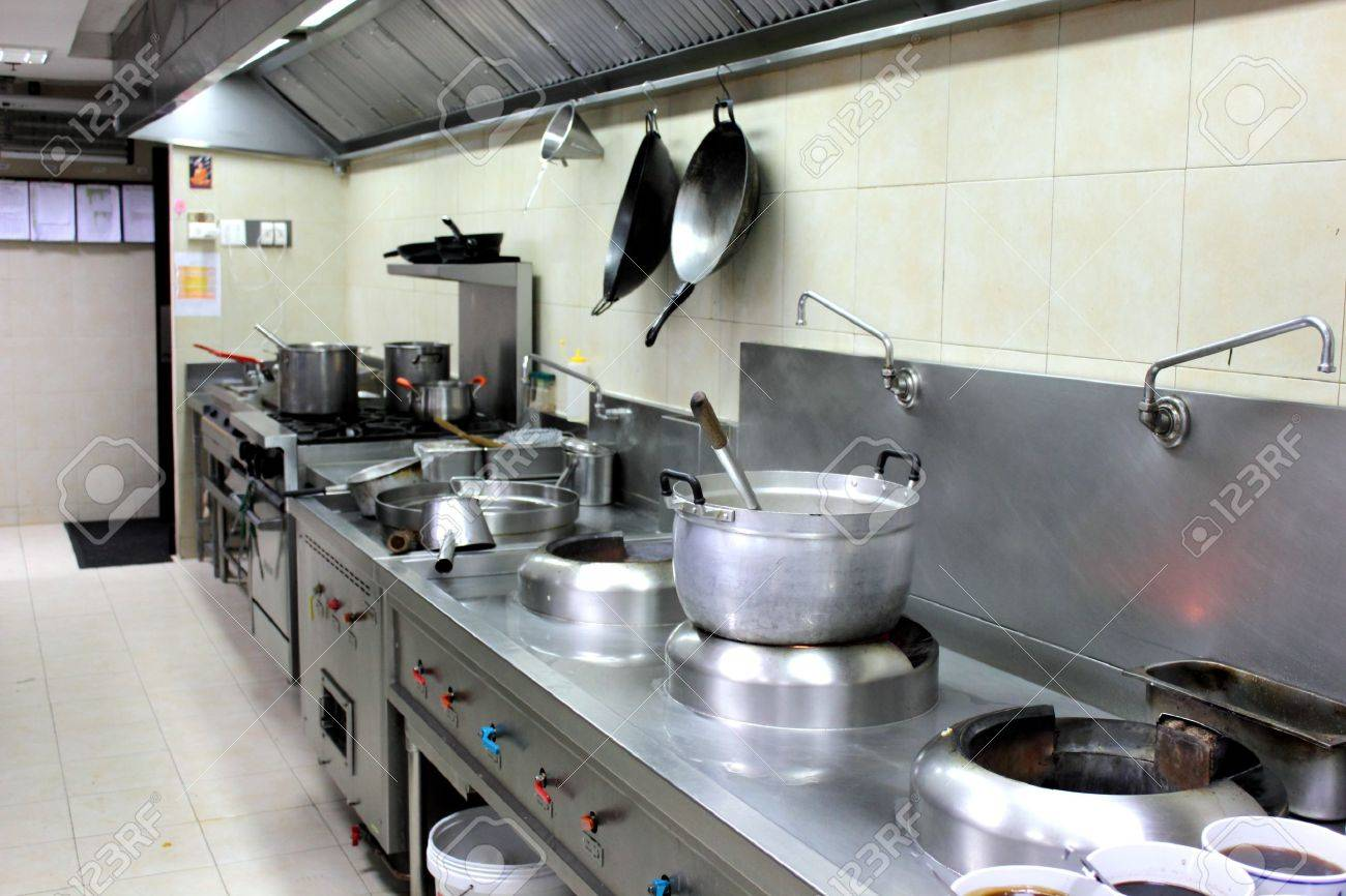 Hotel kitchen equipment - The Professiona Interiorl Equipment Kitchen In Hotel Stock Photo 13562496