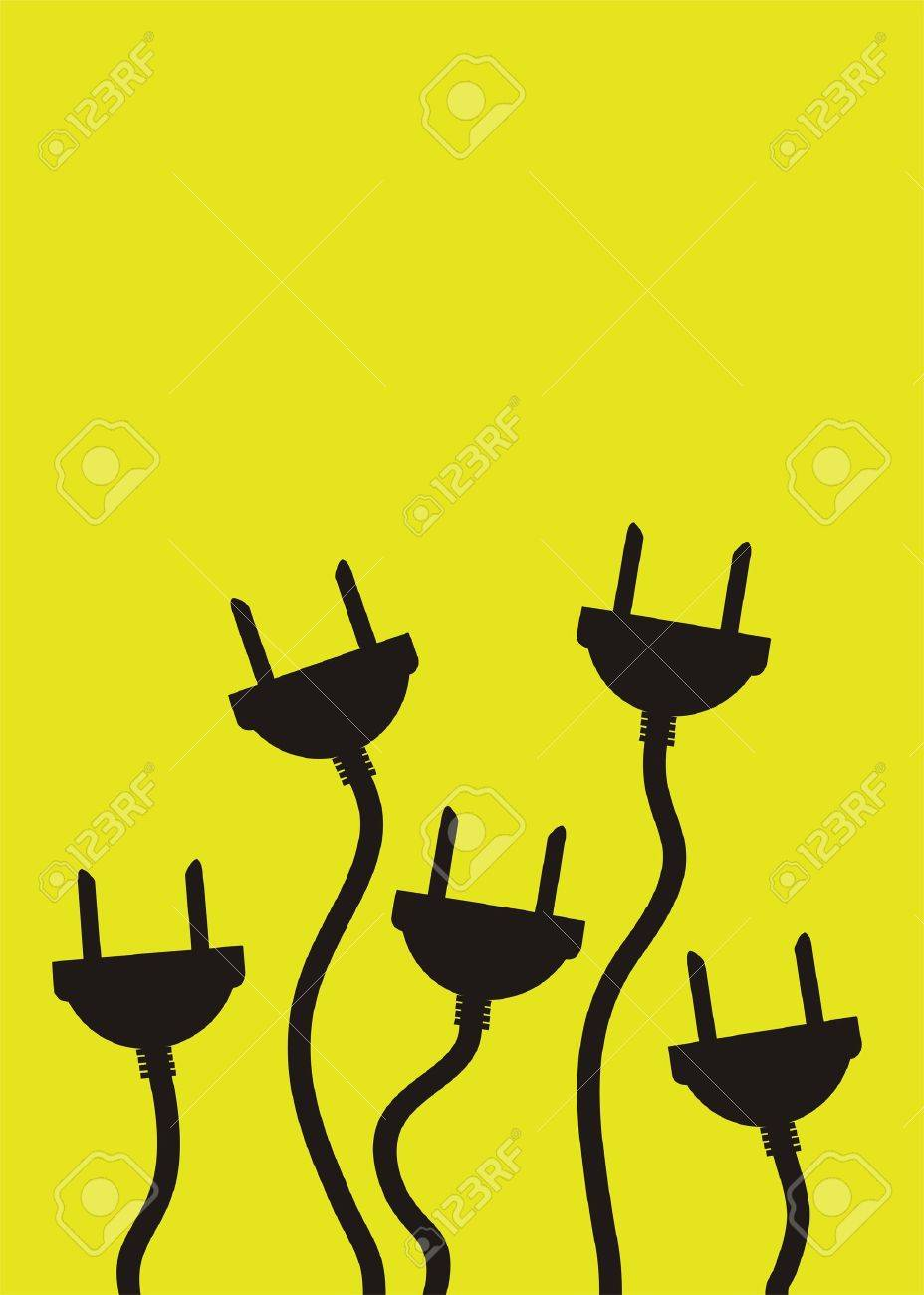 Plugs with extension cable Stock Vector - 1710769