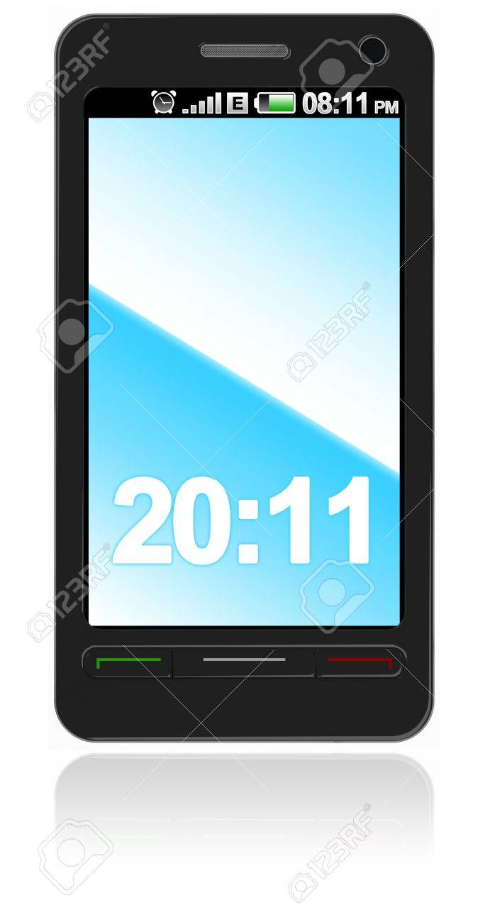 Abstract touch screen smart phone isolated on white Stock Photo - 8791505