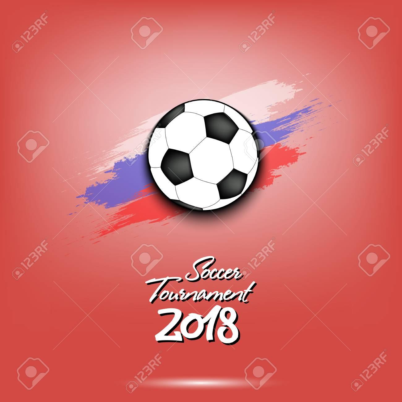 soccer tournament 2018 football logo template design vector