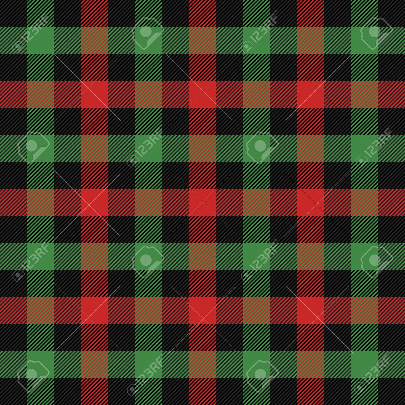 Christmas and new year tartan plaid  Scottish pattern in black,