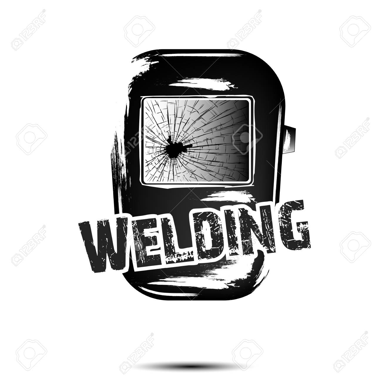 Welding And Abstract Mask Of A Welder Logo Welding Design Template Royalty Free Cliparts Vectors And Stock Illustration Image 116558958