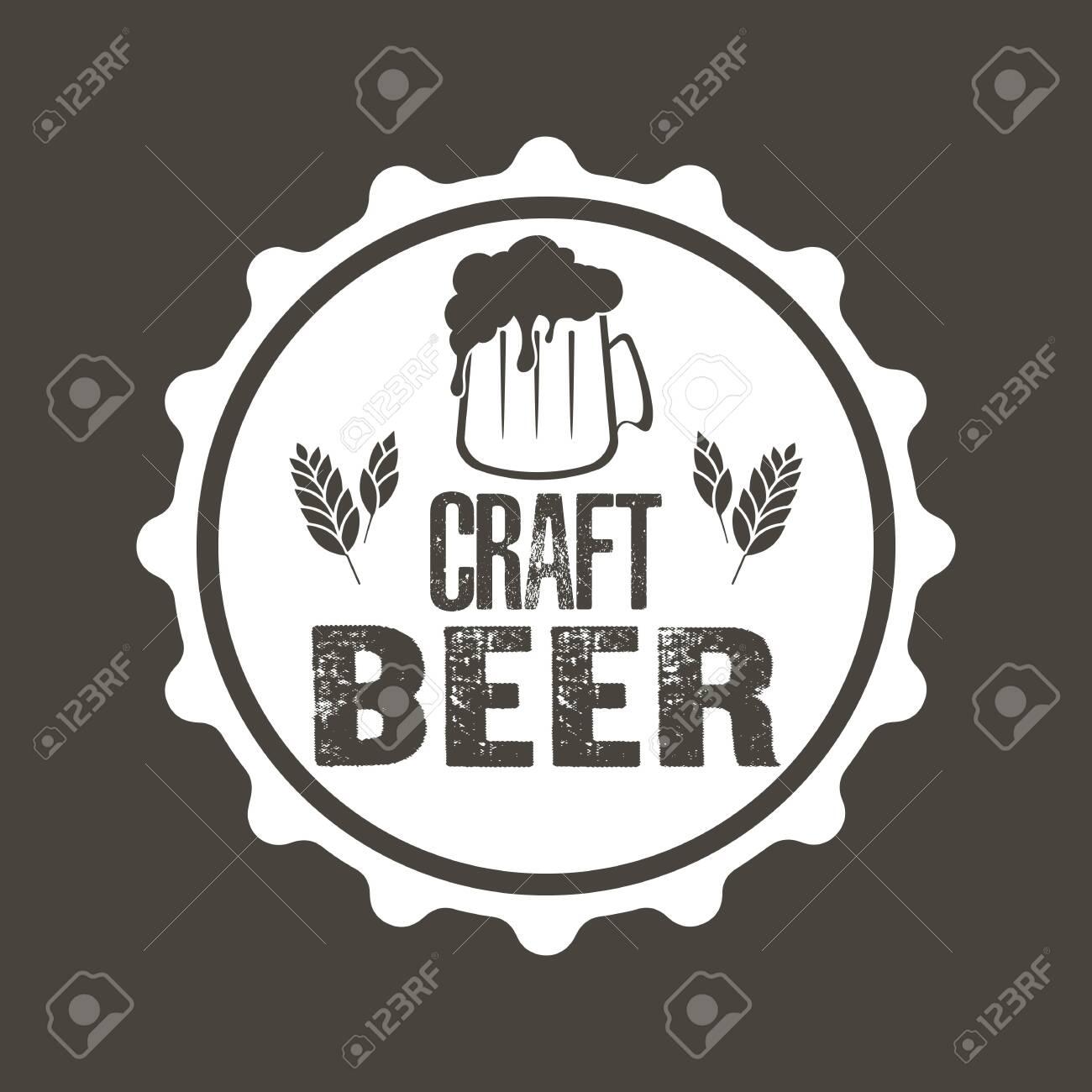 Beer typography. Beer logo template design. Grunge Style. Beer advertising. Vector illustration - 128413841