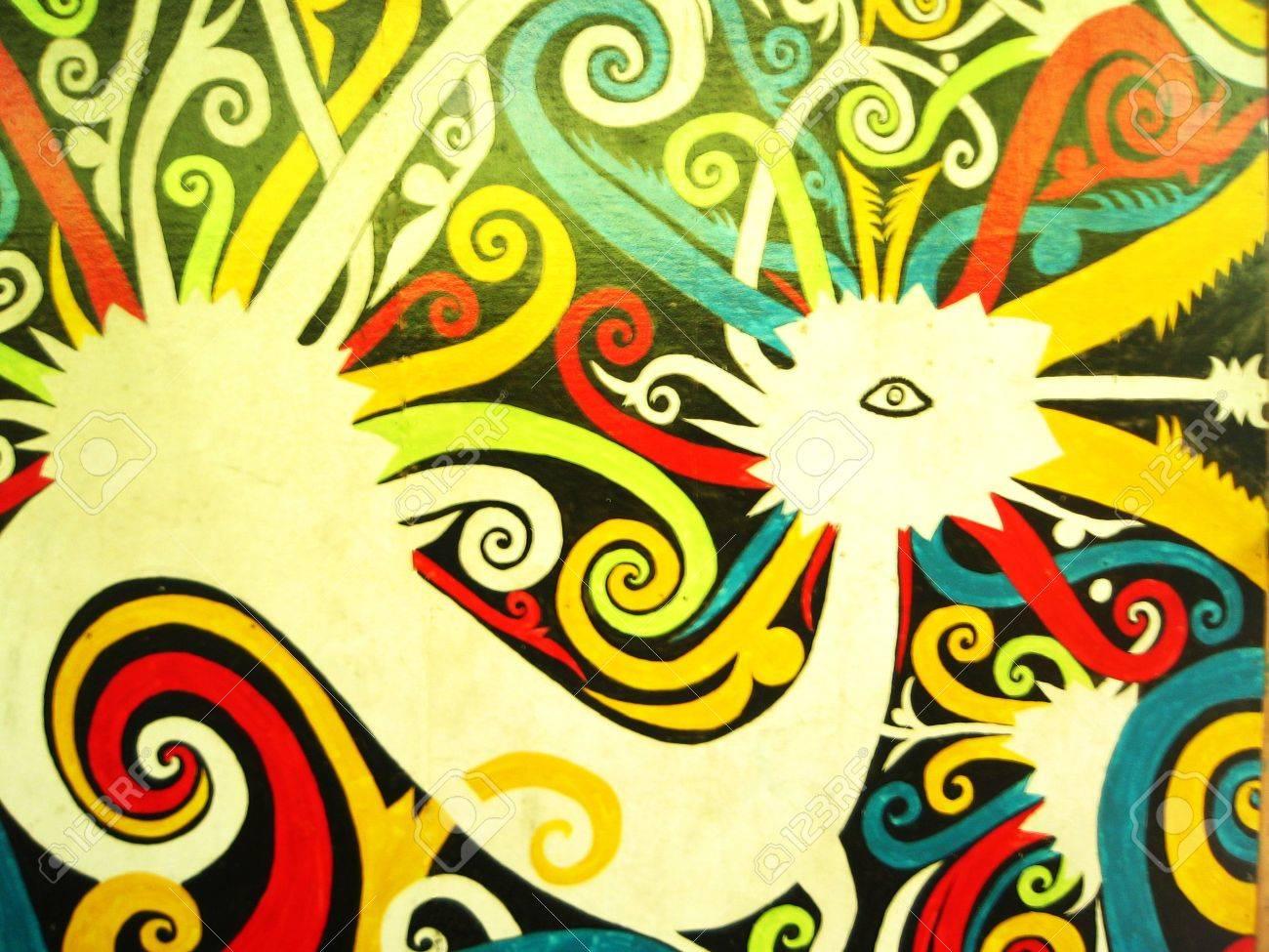 Mitzrah: Native Malaysian Aboriginal Art (Bird Motif) Stock Photo ...