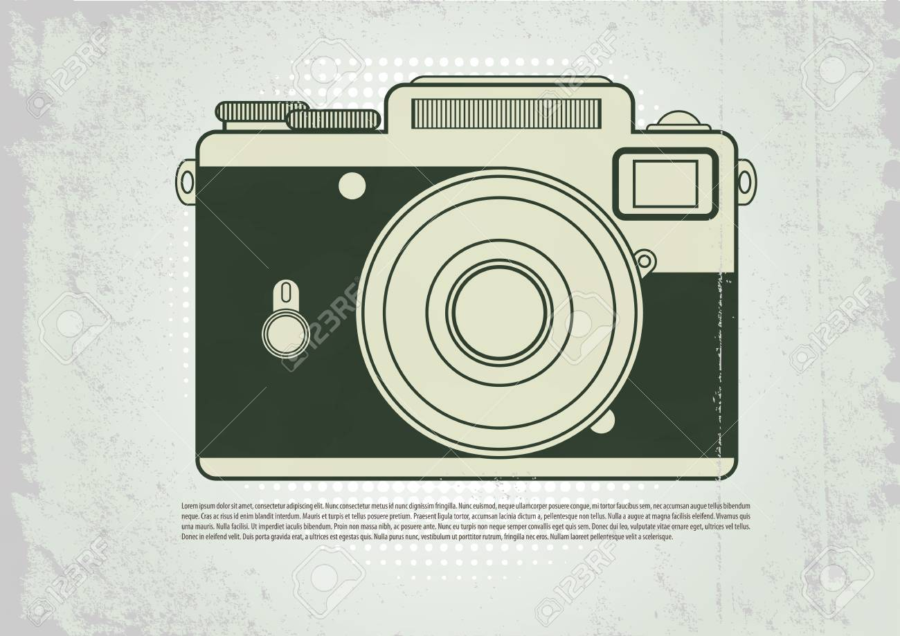 Camera Vintage Vector Free : Vector icons with a vintage camera royalty free cliparts vectors