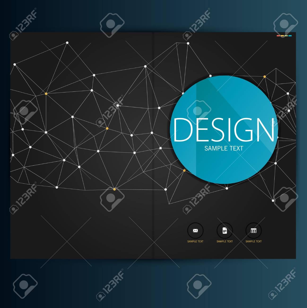 Modern Vector abstract brochure, report or flyer design template - 36949786