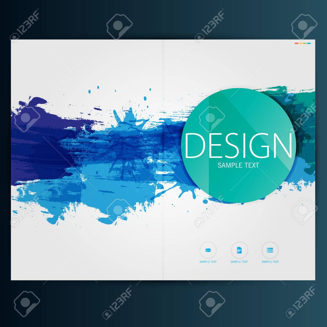 Modern Vector abstract brochure, report or flyer design template - 38308101