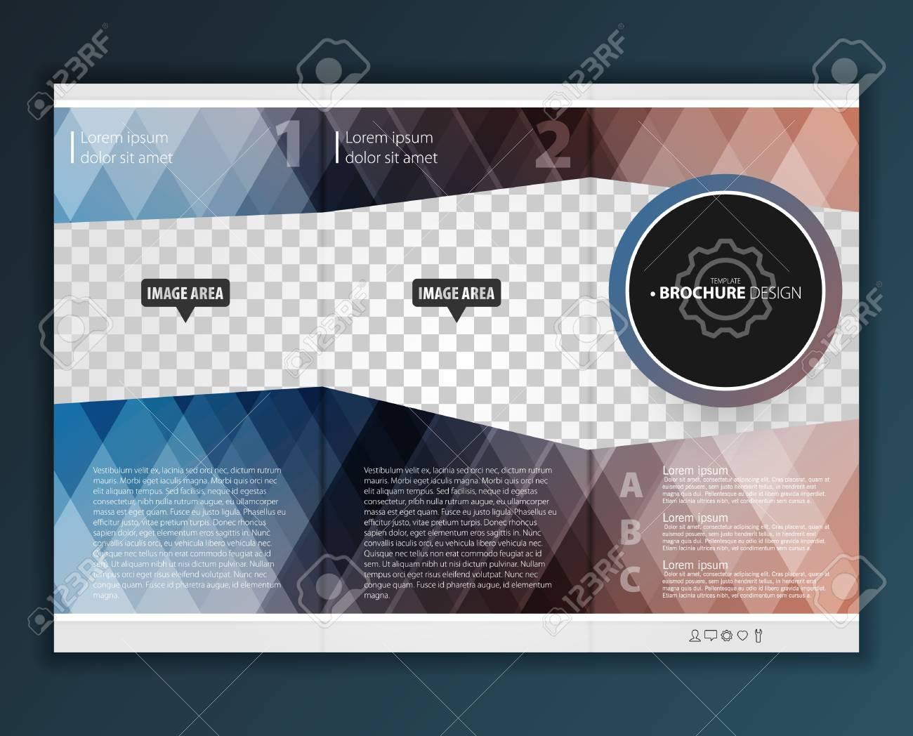 vector modern tri fold brochure design template royalty free