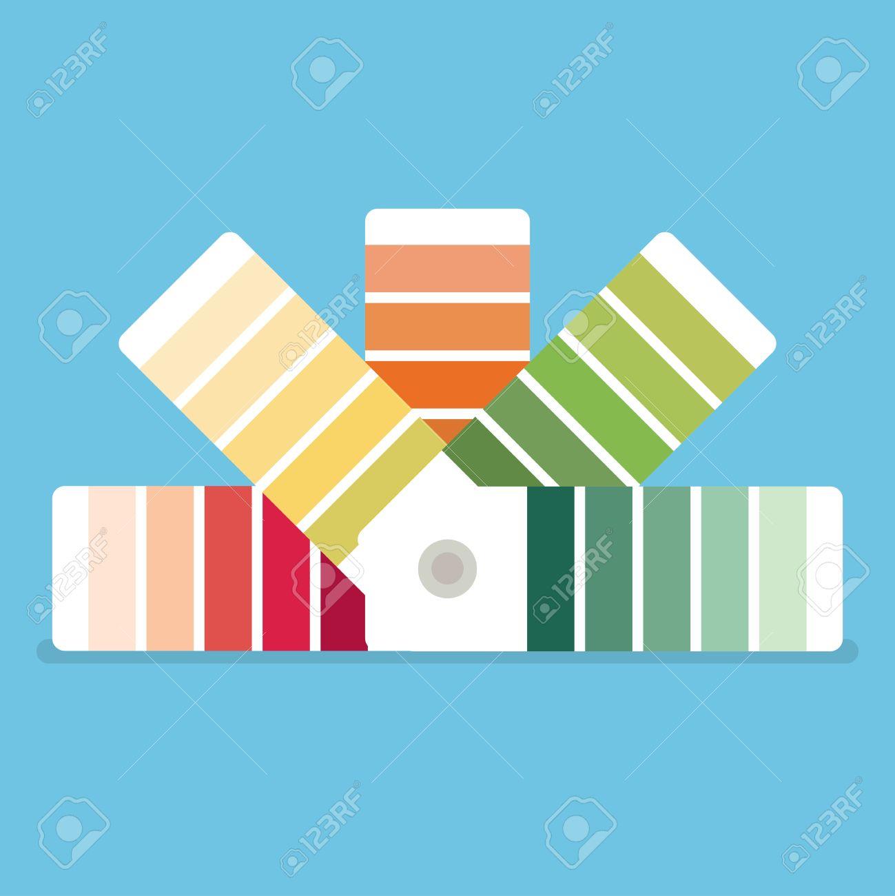 Muestras De Color Libro. Guía De La Paleta De Colores. Icono De La ...