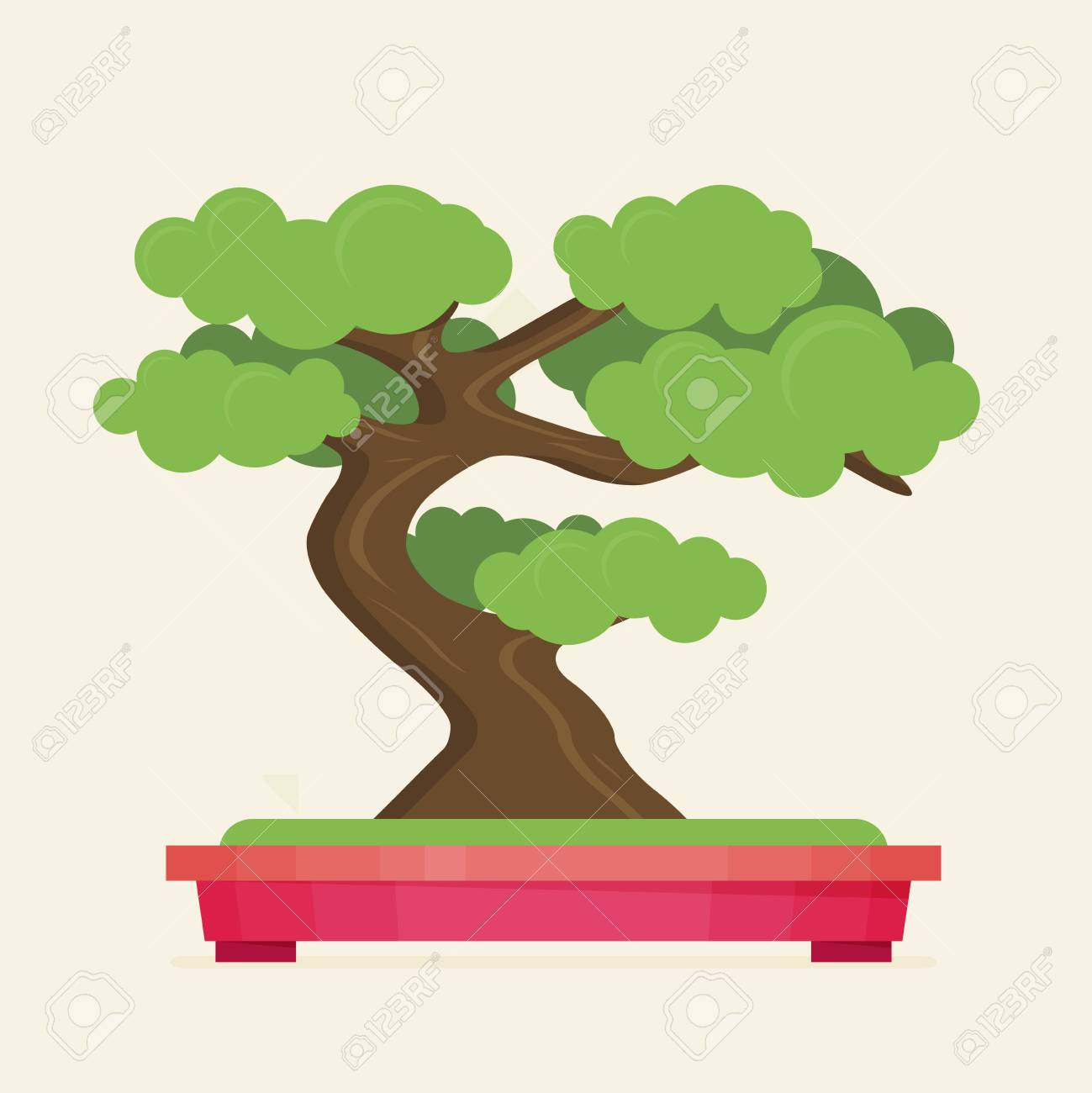 Vector Illustration Of Bonsai Tree Royalty Free Cliparts Vectors And Stock Illustration Image 65224916
