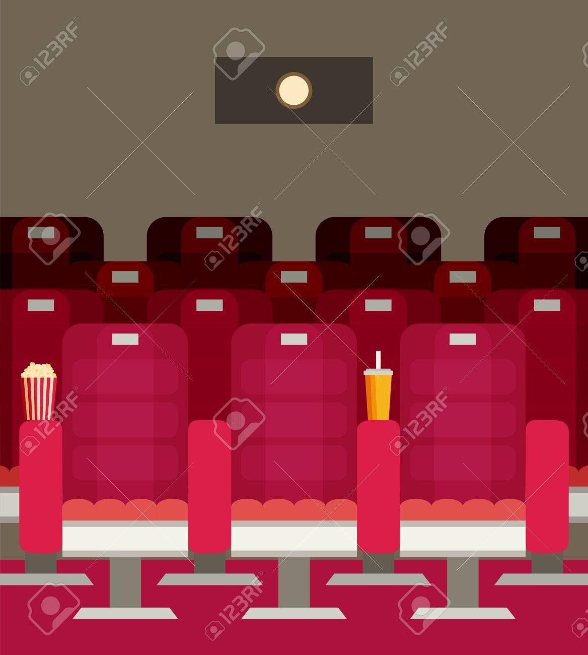 Cinema Chairs With Popcorn, Soda. Vector Illustration. Stock Vector    65225944