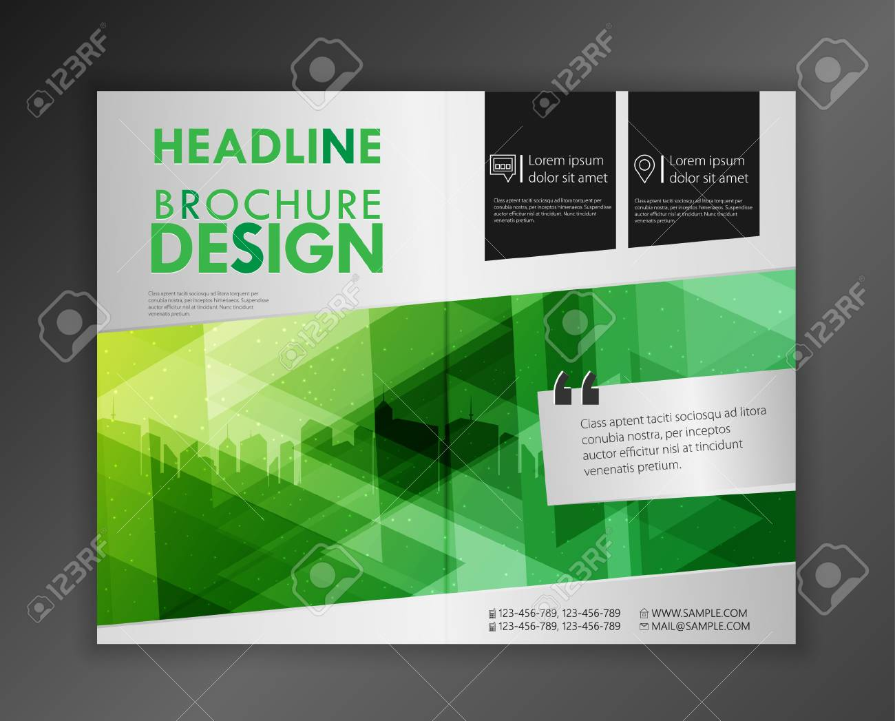 modern vector abstract brochure report or flyer design template