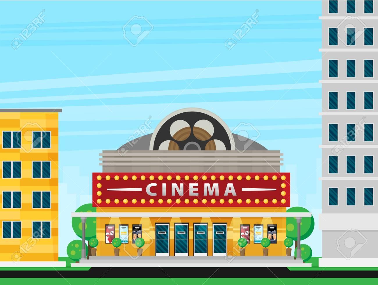 Cinema building flat style. Movie Theater. - 111523419