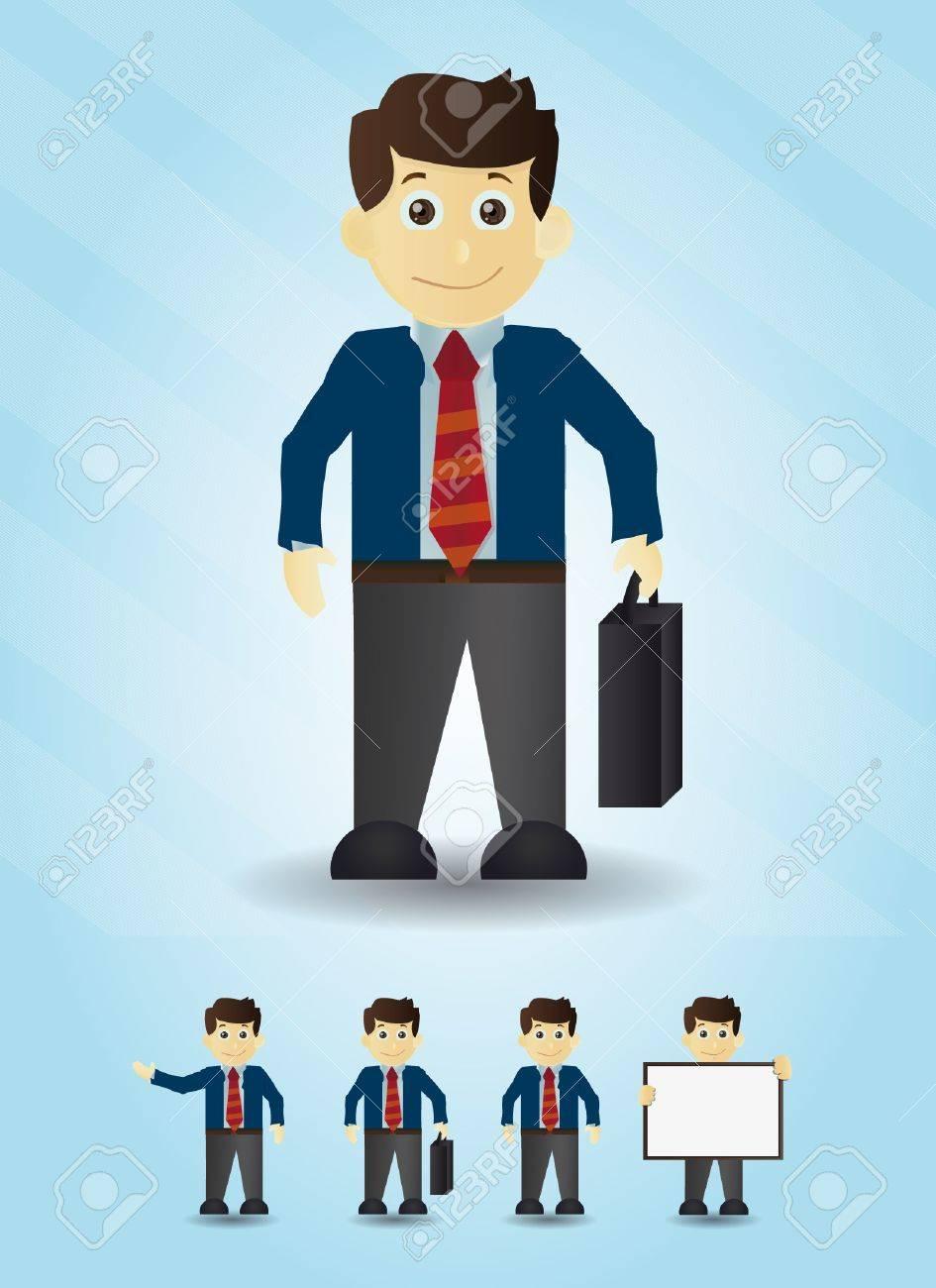 Businessman cartoon office illustrations Stock Vector - 13435700