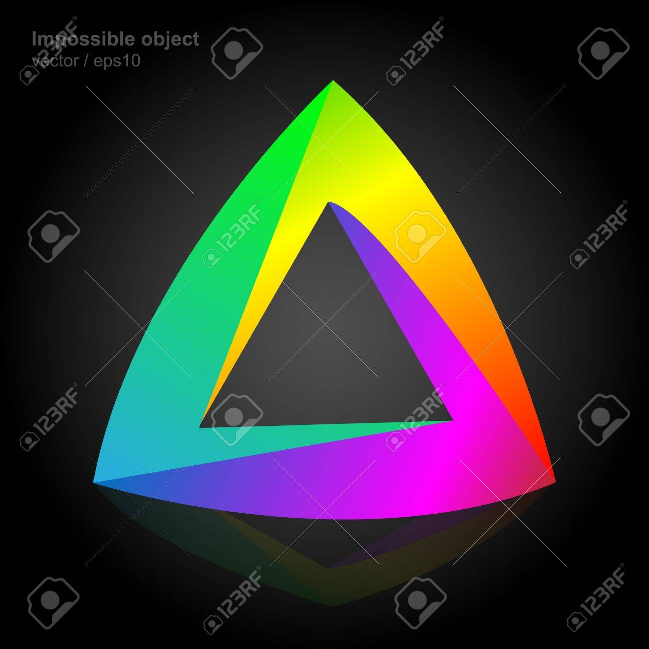 Abstract symbol, impossible object, triangle colorful Stock Vector - 18976377