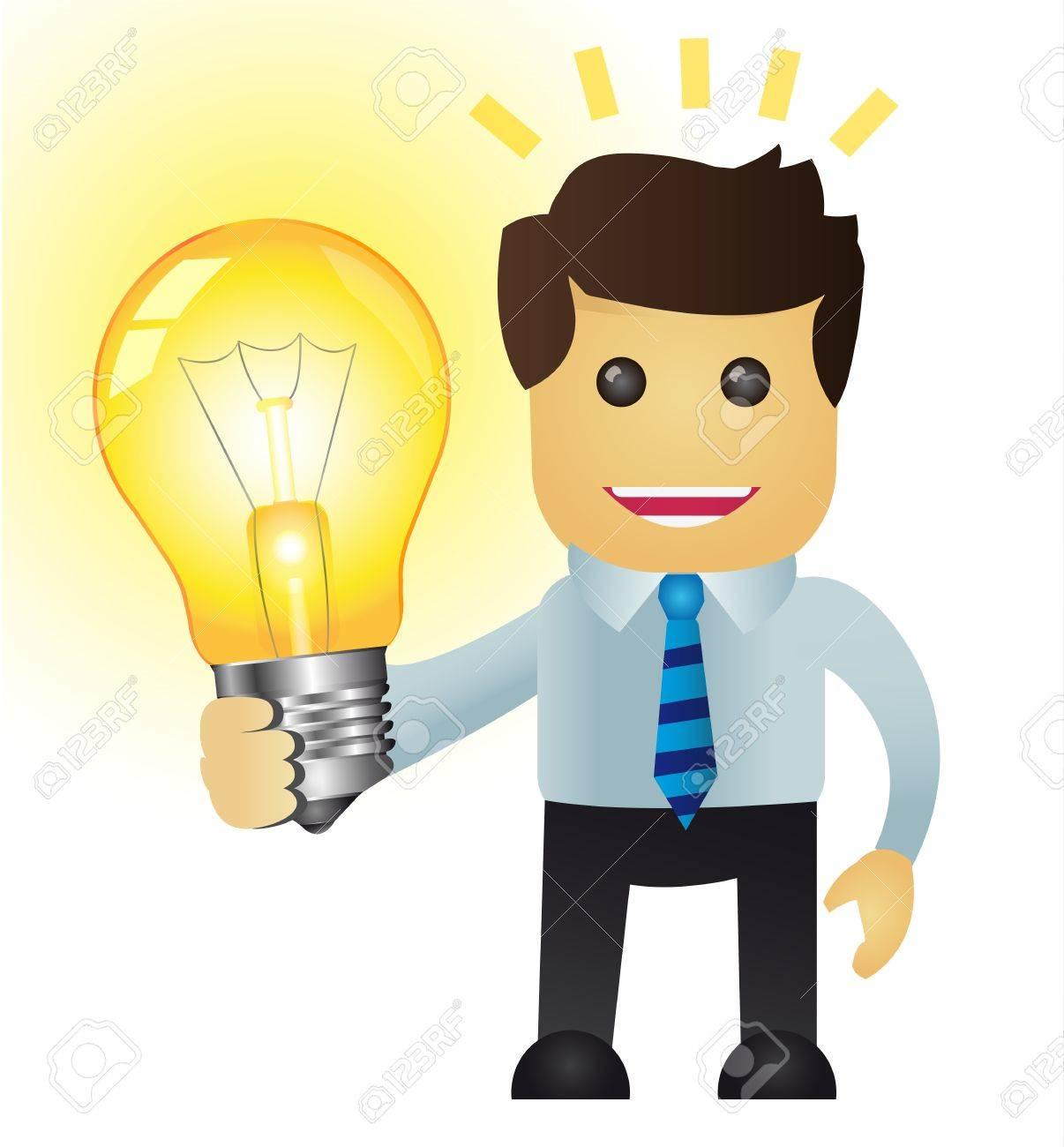 Business man with an Idea Stock Vector - 19020962