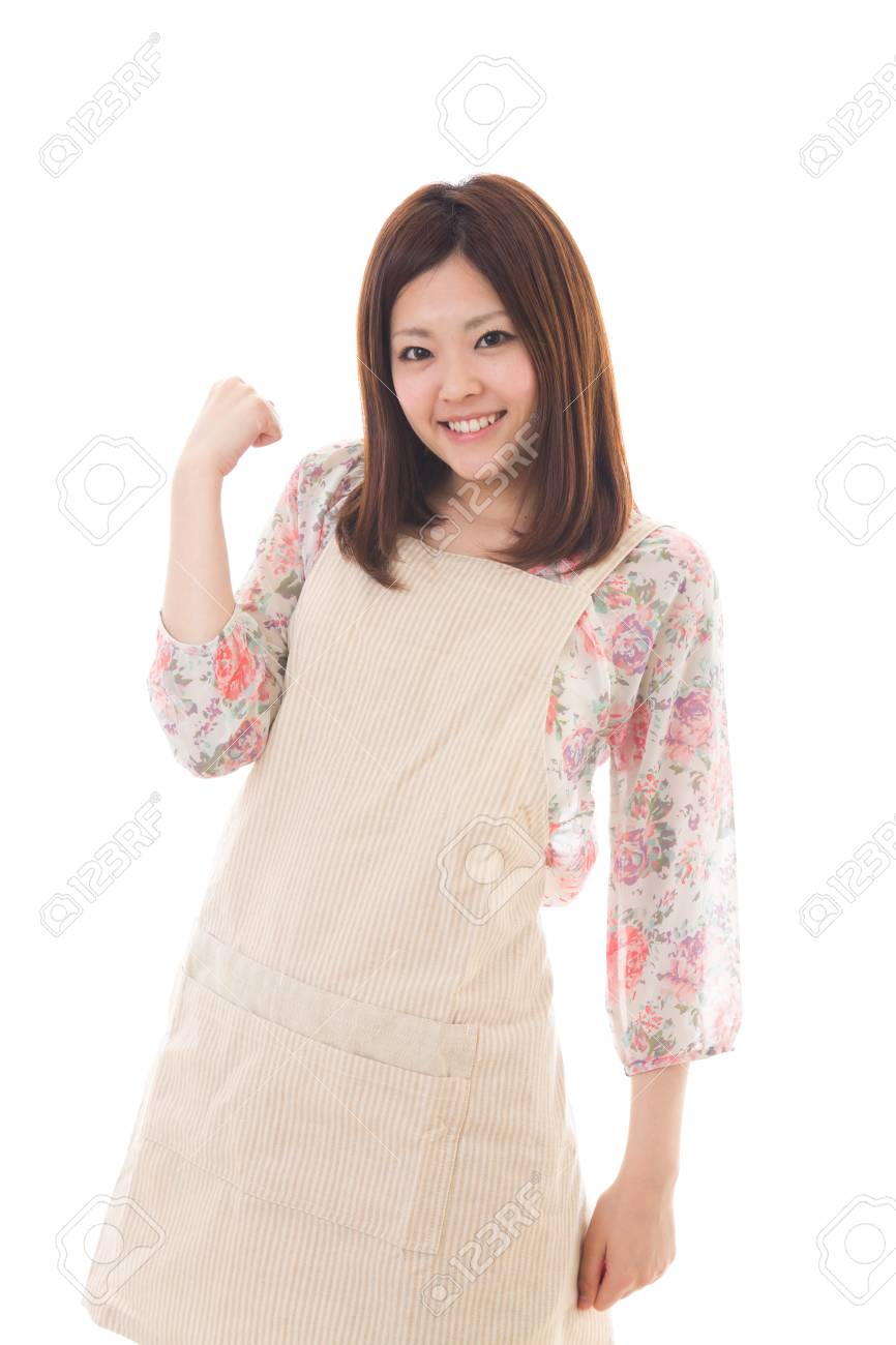 The young woman who cooks Stock Photo - 13778542