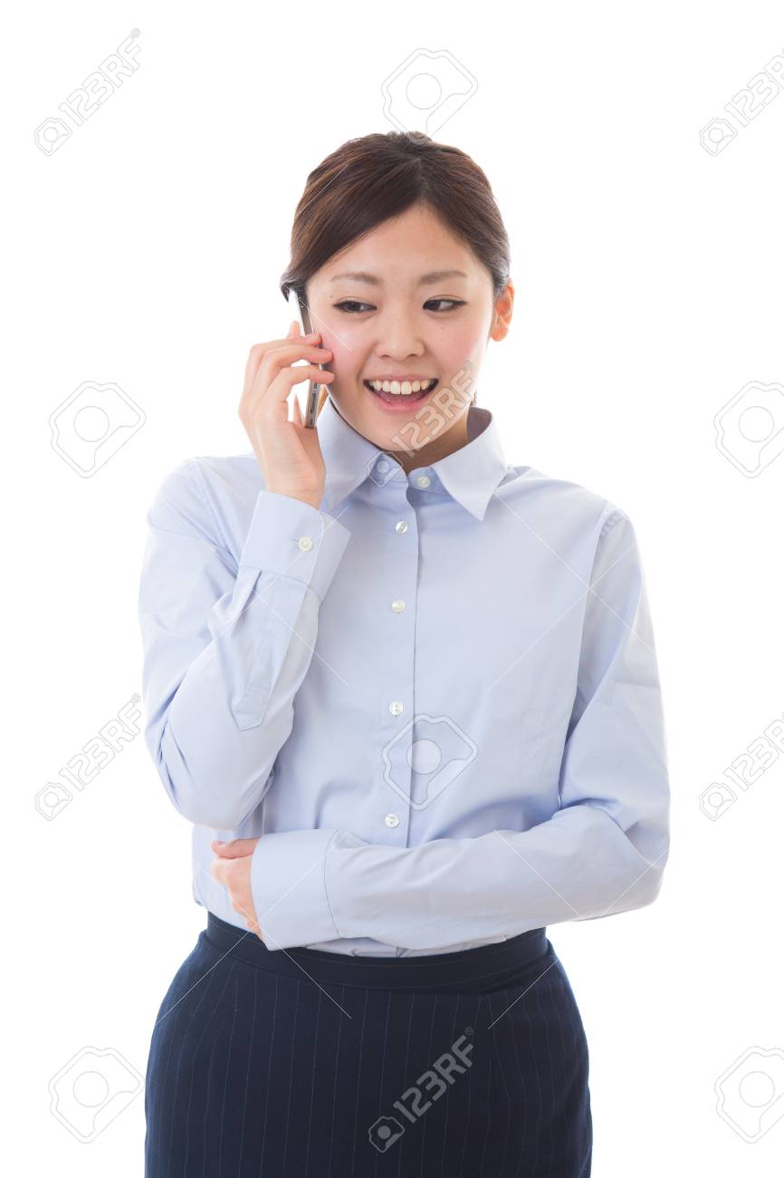 The businesswoman who talks on the telephone Stock Photo - 13778748