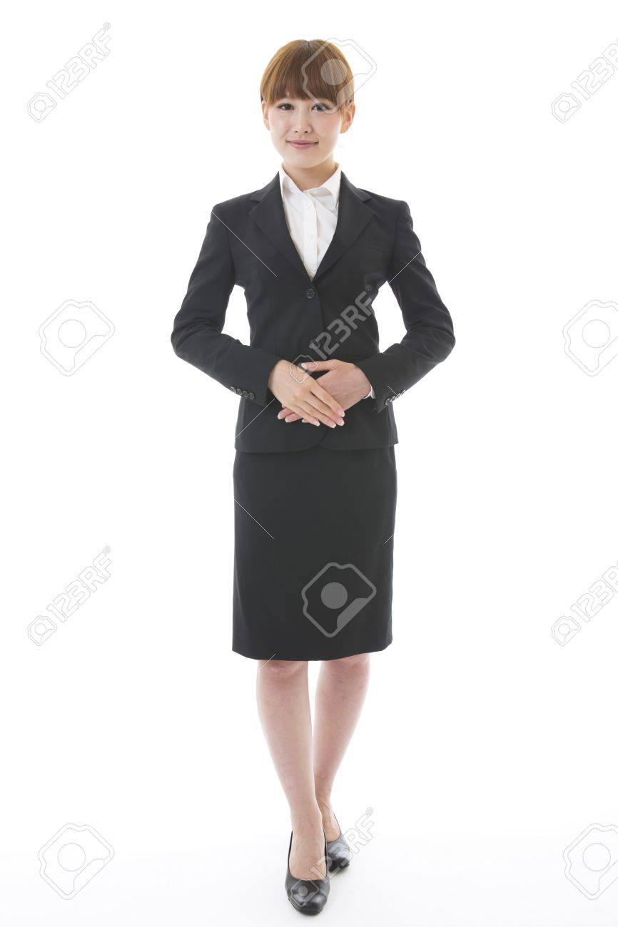 Whole body of a young businesswoman - 15199879
