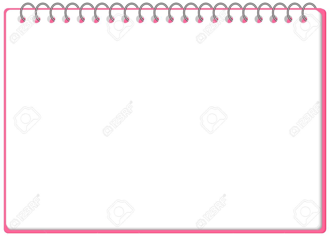 Sketchbook Ringnote Frame Illustration Vector - 146949763