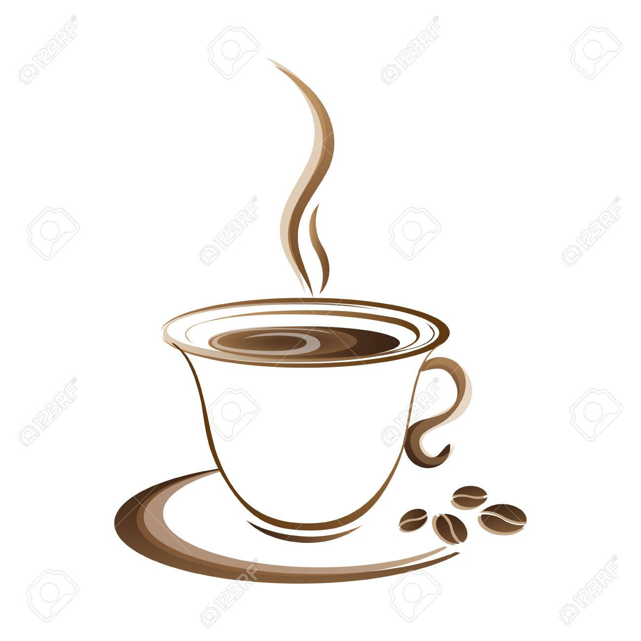 hot coffee cup vector on a white background royalty free cliparts rh 123rf com cup vector file cup vector file