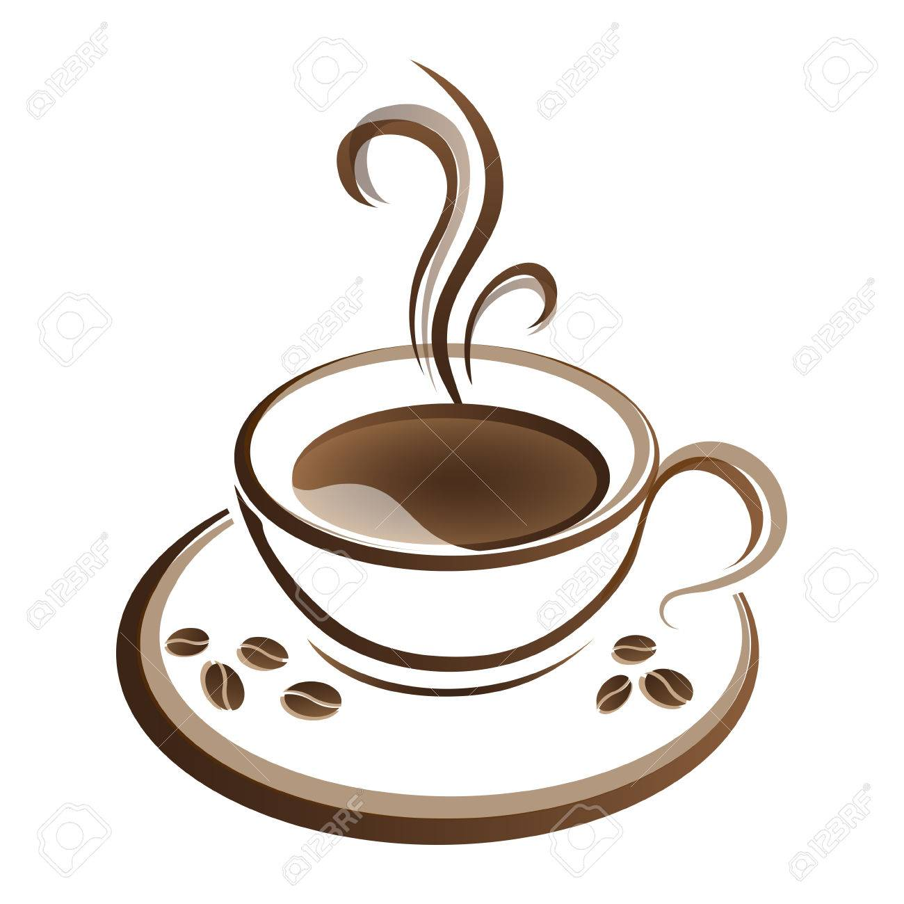 hot coffee cup vector on a white background royalty free cliparts rh 123rf com cup vector logo cup vectoriel
