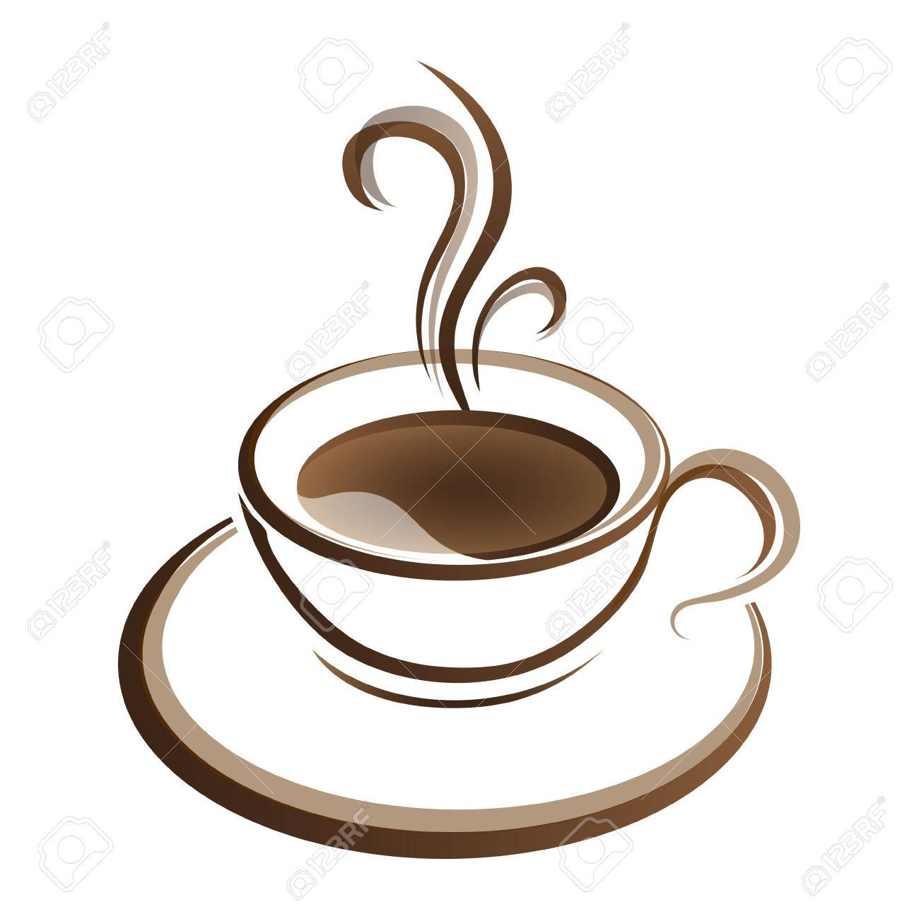 hot coffee cup vector on a white background royalty free cliparts rh 123rf com coffee cup vector top view coffee cup vector design
