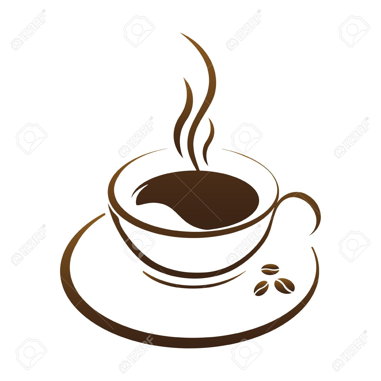 Coffee cup vector free - Hot Coffee Cup Vector On A White Background Stock Vector 50221355